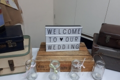 Reception area 'dressed' for the wedding